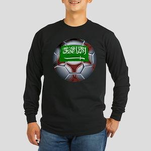 Football Saudi Arabia Long Sleeve Dark T-Shirt