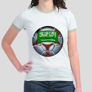 Football Saudi Arabia Jr. Ringer T-Shirt