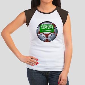 Football Saudi Arabia Women's Cap Sleeve T-Shirt