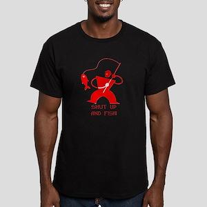 Shut Up And Fish! Men's Fitted T-Shirt (dark)
