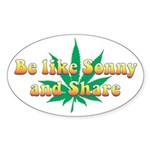 Be Like Sonny and Share Oval Sticker