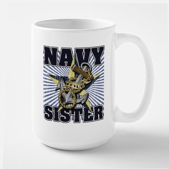Navy Sister Large Mug