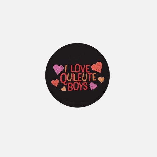 I Love Quileute Boys Mini Button