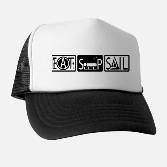 Eat Sleep Sail Trucker Hat