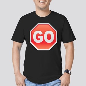 Stop-Go Men's Fitted T-Shirt (dark)