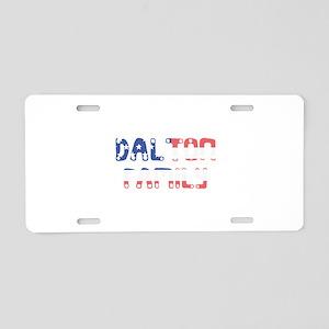 Dalton Family Aluminum License Plate