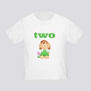 2 Yr Old Redhead Girl Toddler T-Shirt