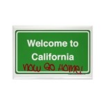 WelcomeToCaliforniaNowGoHome Rectangle Magnet (100