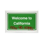 WelcomeToCaliforniaNowGoHome Rectangle Magnet (10