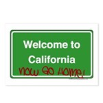 WelcomeToCaliforniaNowGoHome Postcards (Package of