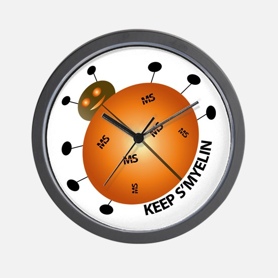 MS/Multiple Sclerosis Bug Wall Clock