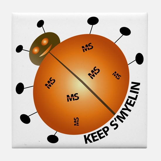 MS/Multiple Sclerosis Bug Tile Coaster