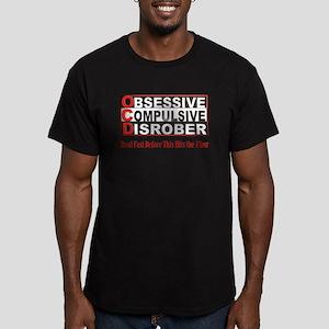 Disrober Men's Fitted T-Shirt (dark)