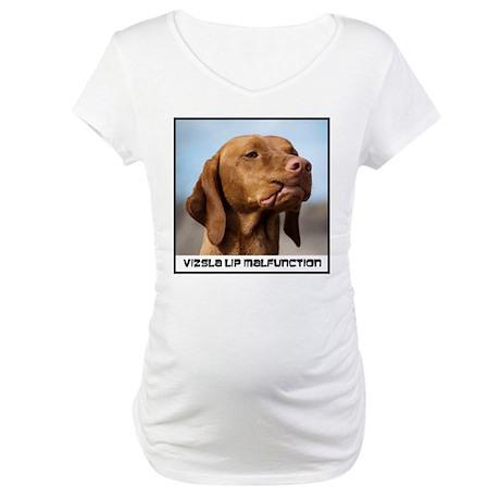 Vizsla-Lip-Malfunction Maternity T-Shirt