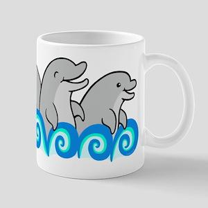 Playful Dolphin Trio Mug