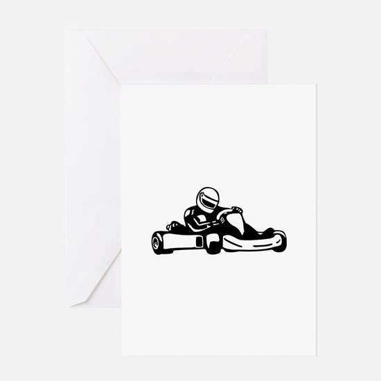 Go Kart Racing Greeting Card