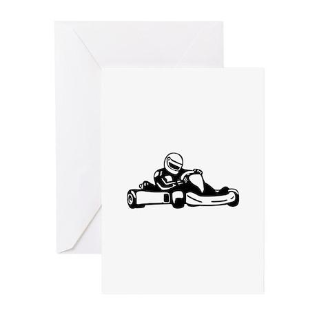 Go Kart Racing Greeting Cards (Pk of 10)