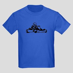 Go Kart Racing Kids Dark T-Shirt
