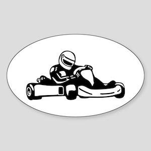 Go Kart Racing Oval Sticker
