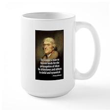 Jefferson To Compel A Man Large Mug