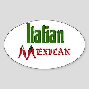 Italian Mexican Oval Sticker