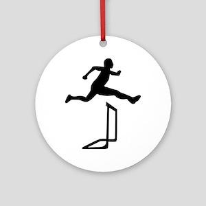 Athletics - Hurdles Ornament (Round)