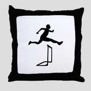 Athletics - Hurdles Throw Pillow