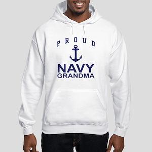 Proud Navy Grandma Hooded Sweatshirt