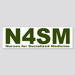 Nurses for Socialized Medicine N4SM Sticker (Bumpe
