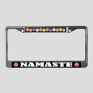 Namaste Greeting License Plate Frame