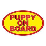 Puppy on board Oval Sticker