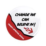 """Obama Approval Rating 3.5"""" Button (100 pack)"""
