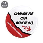 """Obama Approval Rating 3.5"""" Button (10 pack)"""