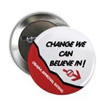 """Obama Approval Rating 2.25"""" Button (100 pack)"""