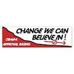 Obama Approval Rating Bumper Sticker (50 pk)