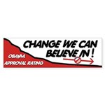 Obama Approval Rating Bumper Sticker (10 pk)