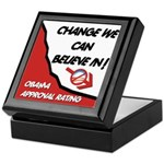 Obama Approval Rating Keepsake Box