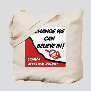 Obama Approval Rating Tote Bag