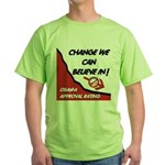 Obama Approval Rating Green T-Shirt