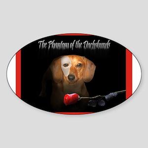 Phantom Doxie Oval Sticker