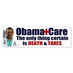 Obama's Death & Taxes Bumper Sticker