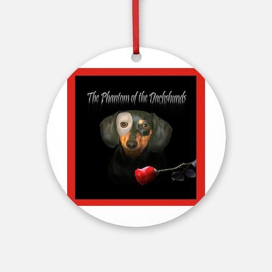 Phantom Doxie Ornament (Round)