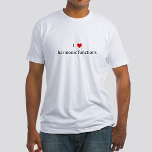 I Heart harmonic functions Fitted T-Shirt