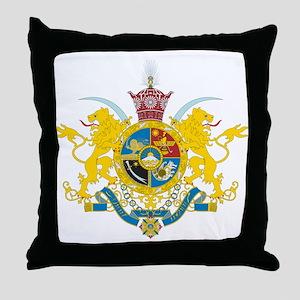 Iran Coat of Arms (Pahlavi Dy Throw Pillow