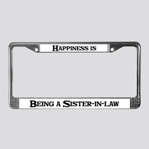 Happiness: Sister-in-law License Plate Frame