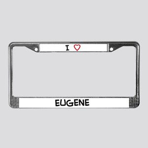 I love Eugene License Plate Frame