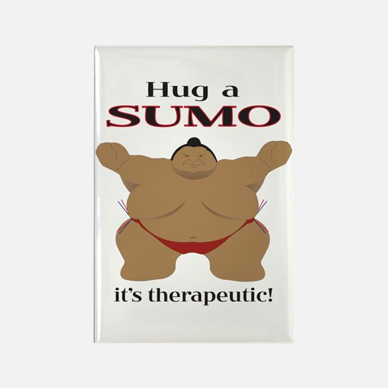 Hug a SUMO Rectangle Magnet