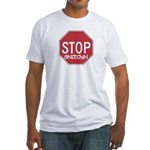 STOP SNITCHING Fitted T-Shirt