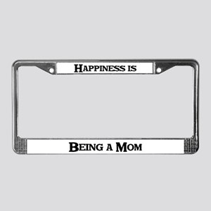 Happiness: Mom License Plate Frame