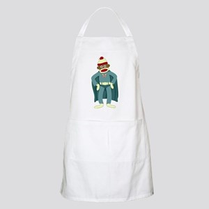 Sock Monkey Superhero BBQ Apron